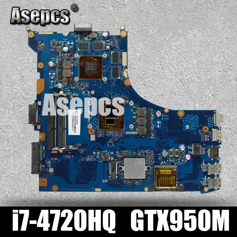 Asepcs ROG GL552JX Laptop motherboard for ASUS GL552JX GL552J GL552 GL552JK  ZX50J Test original mainboard I7-4720HQ GTX950M