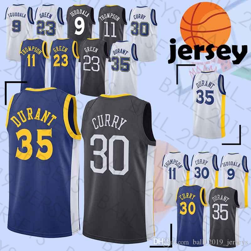 a45dab6d145 2019 Warriors Jerseys 30 Curry 35 Durant 23 Green 11 Thompson 9 Lguodala  Hot Sale Tracksuit Basketball Jersey From Ball 2019 jerseys