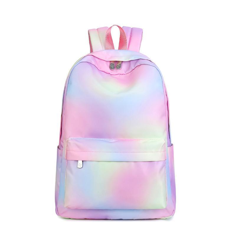 fae833fe86 Waterproof Polyester Backpack Women Fashion Laptop Backpack For Teenage Girls  Pink Gradient School Bag Female Travel Bags Boys Backpacks Laptop Rucksack  ...