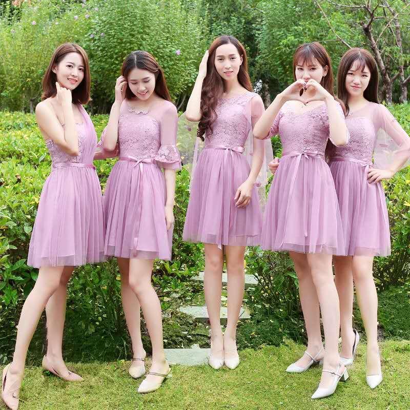 8c25ea675069 2019 Bridesmaid Dress Sister Skirt Korean Short SkirtPink From Janae2,  $21.1 | DHgate.Com