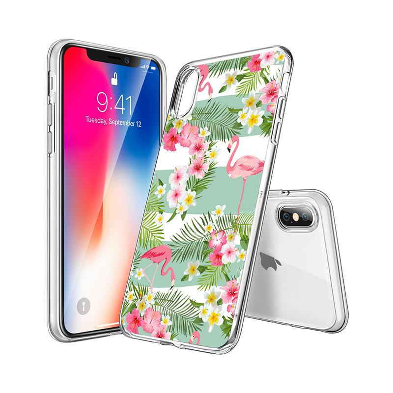 3D Cartoon Kawaii Flamingo Weiche Tpu Telefon Fall für iPhone X XS Max Xr 6 6S 7 8 Plus Nette Painted Back Silikon Clear Cover Luxus