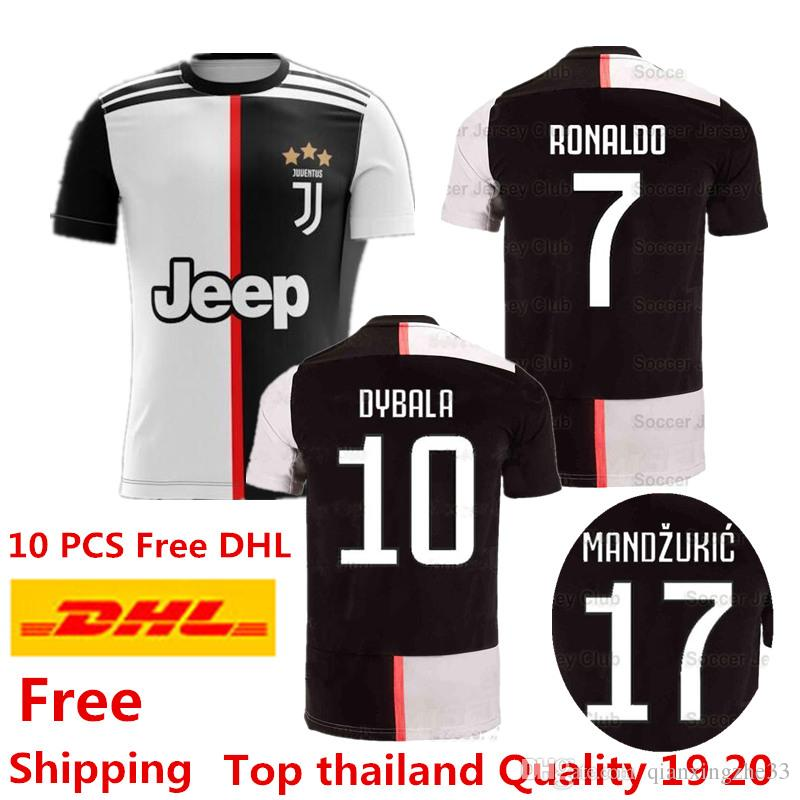 buy popular 6a811 f37c3 2019 RONALDO JUVENTUS jersey 19 20 Champions League JUVE Home Away third  Soccer Jersey DYBALA CHIELLINI BUFFON Football shirts Europe size