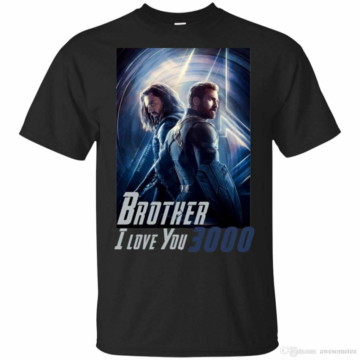 908c166e Bucky Barnes Captain America Brothers I Love You 3000 Quotes T Shirt Gifts  T Shirt S Tees Shirts From Awesometee, $11.17| DHgate.Com