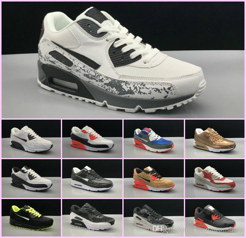 Drop Shipping Famous Cushion 90 Mid Winter Mens Athletic Sports Training Sneakers Scarpe casual Air Size 36-45