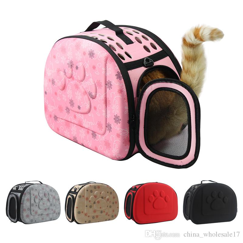 33b352e595 2019 Dog Carrier Bag Portable Cats Handbag Foldable Travel Bag Puppy  Carrying Mesh Shoulder Pet Bags S M L From China wholesale17