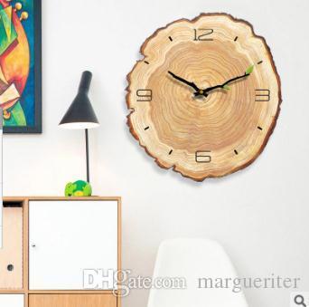 Kreative Wanduhr Wohnzimmer Einfache Moderne Stille Jährliche Ring  Dekorative Wanduhren Schlafzimmer Kunst Design Uhr