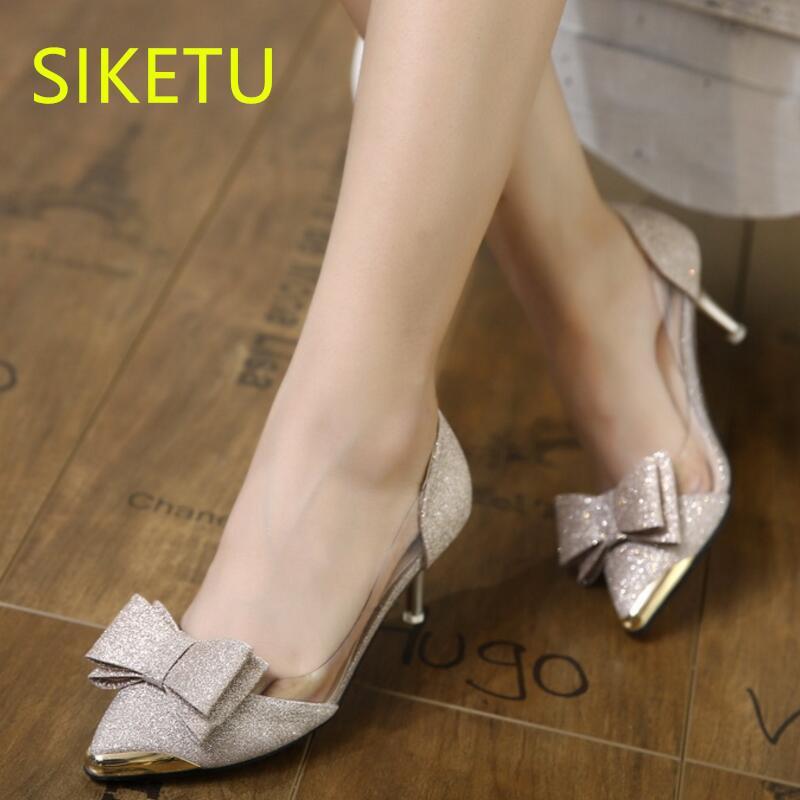 Acquista Designer Dress Shoes SIKETU Spedizione Gratuita Primavera E  Autunno Donne Sesso Tacchi Alti Pompe Di Nozze G0426 Sandali Estivi  Papillon A  20.48 ... 42b30083b3b