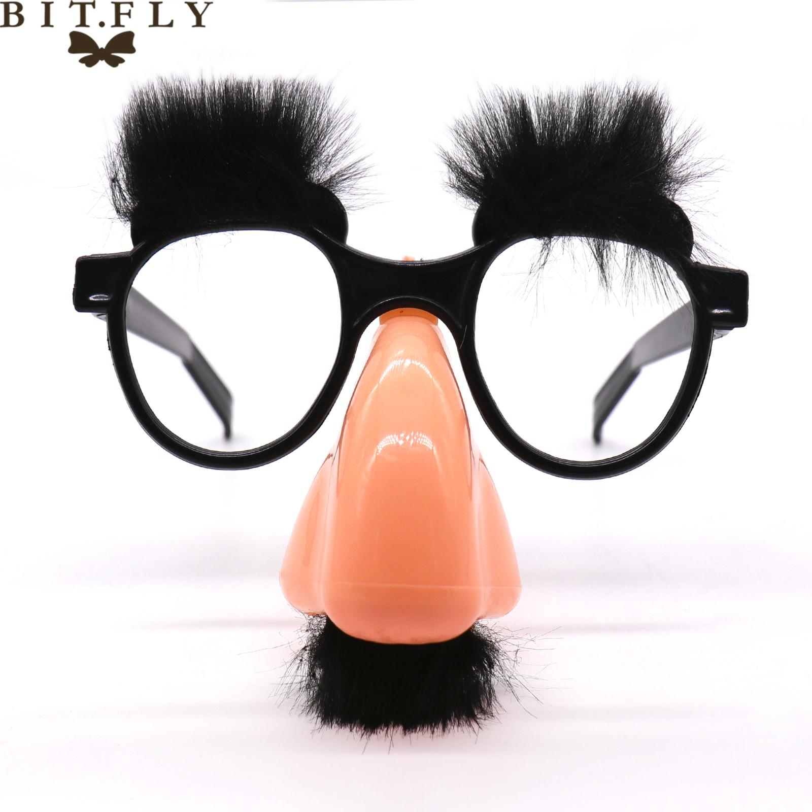 New Stylish Lovely Funny Foolish Nerd Halloween Black Old Man Occhiali Sopracciglio naso con baffi Costume Party decoration suppli