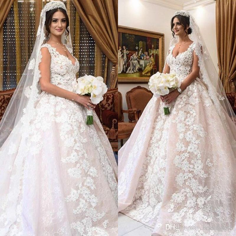 Red Black Lace Ball Gown Wedding Dresses
