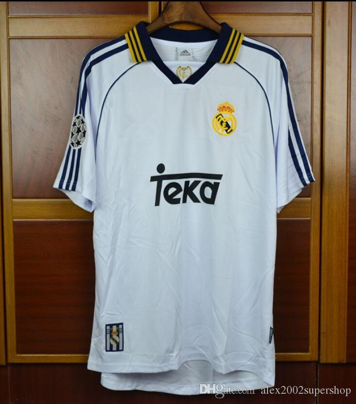 0bf2436ec7f 2019 98 99 00 Real Madrid Retro Jerseys RAUL Shirts 1998 1999 2000 Redondo  Carlos Seedorf Vintage Classic Camiseta De Futbol From Alex2002supershop