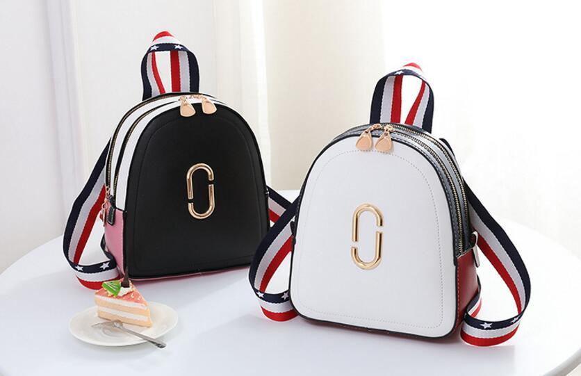 brand women cute striped sequined rucksack high quality lady shopping messenger shoulder bags school Girls Travel Backpacks