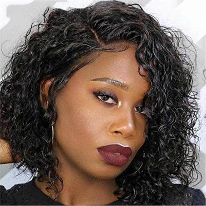 Remy Real Brazilian Human hair Wigs Curly Kinky Curly Lace front and Full lace With Baby Hair Natural Color For Black Women