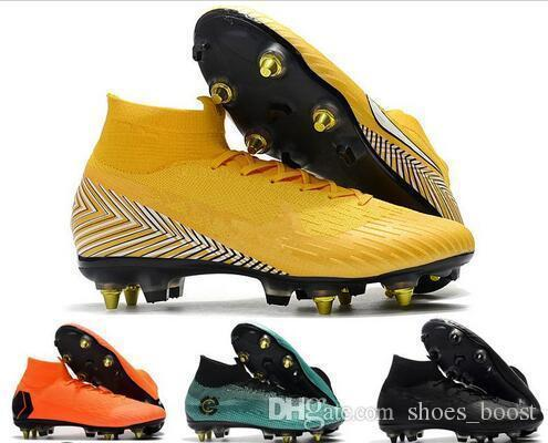 e38751124a9 2019 World Cup Mens Soccer Cleats Mercurial Superfly Vi 360 Elite Sg Ac  Steel Spikes Soccer Shoes High Ankle Chaussures De Football Boots From ...