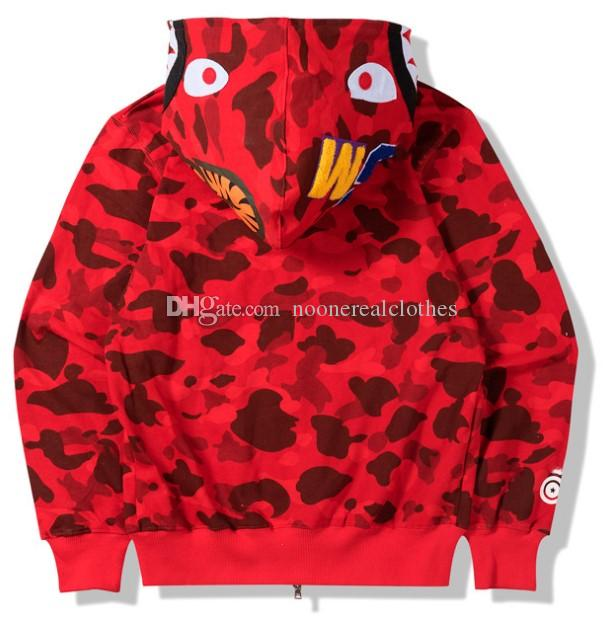 Herren Frauen Sportwear Mantel Jogger Trainingsanzug Pullover Sweatshirt CrewNeck Bird Ovo Drake Schwarz Hip Hop Camouflage Hoodie Männer Hai Hai Mund