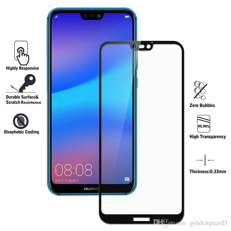premium selection 0f3ec 3022c Full Cover Tempered Glass Screen Protector For Huawei P Smart 2019 Honor 8A  Nova 4 Mate 20 Lite 20X Magic 2 Enjoy 9 Y9 2019 P20 Lite P20 Pro
