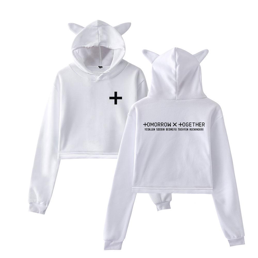 6e21523f7 2019 New drop shopping TXT 2D fashion trend sala Cat Crop Top Women summer  Hoodies Sweatshirt Sexy hot clothes