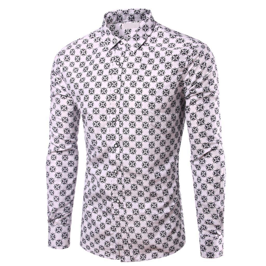Camicia Uomo 2019 Slim Acquista Camicia Manica Lunga Chemise Uomo Stampa Design Sociale Camicia Casual Fit Homme A4L5Rj