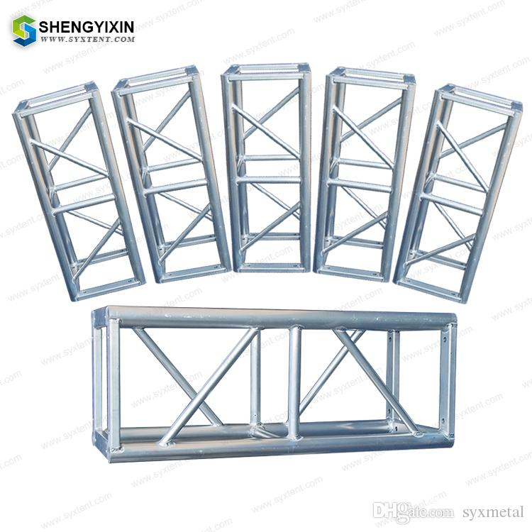 trade show screw global stage lighting roof event mini spigot exhibition  concert truss Spigot Curved Aluminum Truss And Lighting Truss