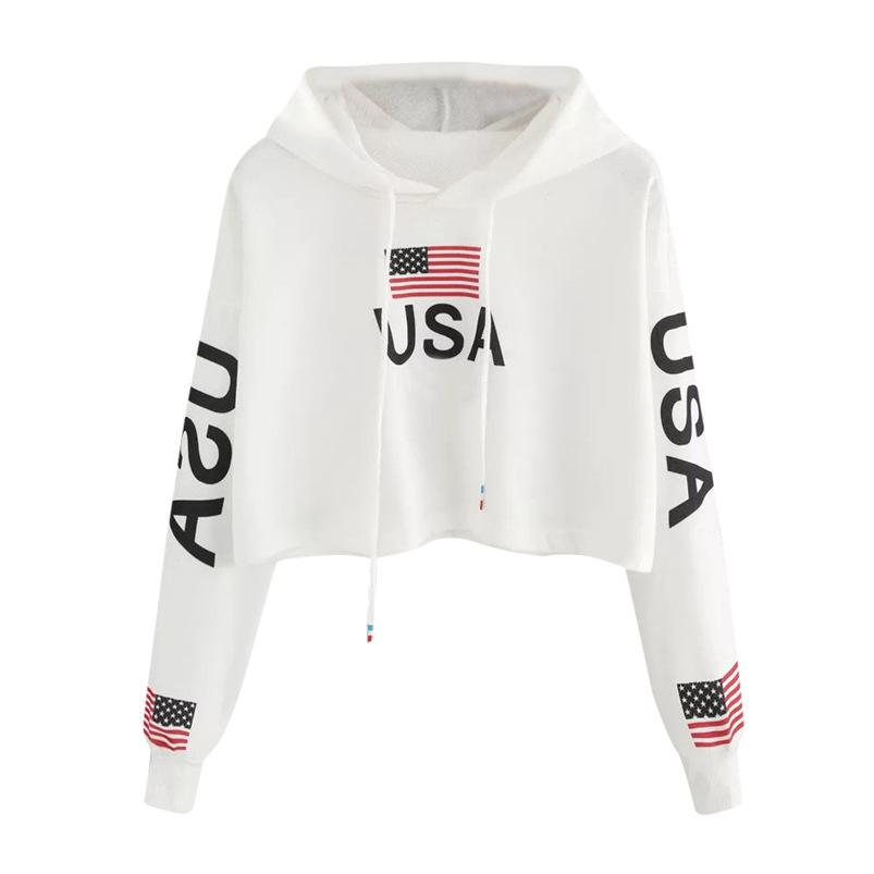 108d4d4bba4a 2019 American Flag Print Women Sweatshirt Long Sleeve 2018 Winter Hooded  Loose Women Hoodies Sweatshirt Female Tops #FN23 From Jerkin, $58.24 |  DHgate.Com