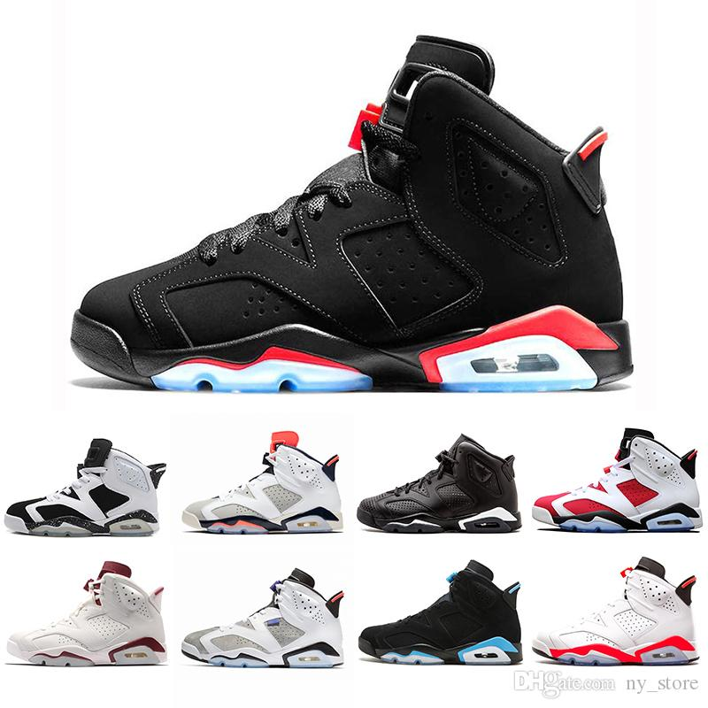 quality design 91e64 35b90 2019 VI 6 Black Infrared 6s Men Basketball Shoes Unc Black Cat Hare Carmine White  Infrared Angry Bull Sport Blue Oreo Sports Sneaker Athletic Shoes Shoes ...