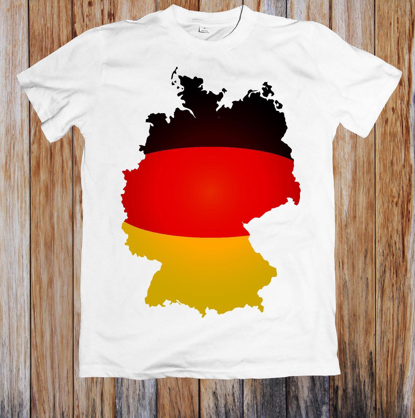 3499a9d1b1cad Compre Mapa Da Bandeira Da Alemanha Unisex T Camisa Cor Jersey Imprimir  Camiseta RETRO VINTAGE Clássico T Shirt De Fourcup