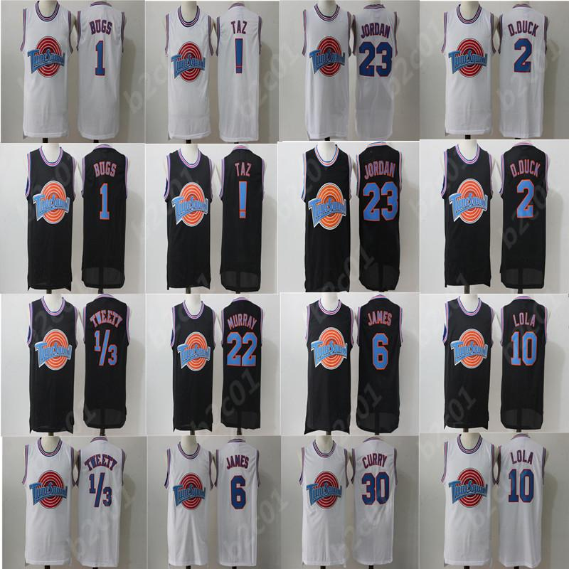 92d45be1e1c3 2019 Movie LeBron Space Jam Jersey 6 James Tune Squad Looney Daffy Duck  Bill Murray Lola Bugs Bunny TAZ Tweety Michael From Chenzheyu