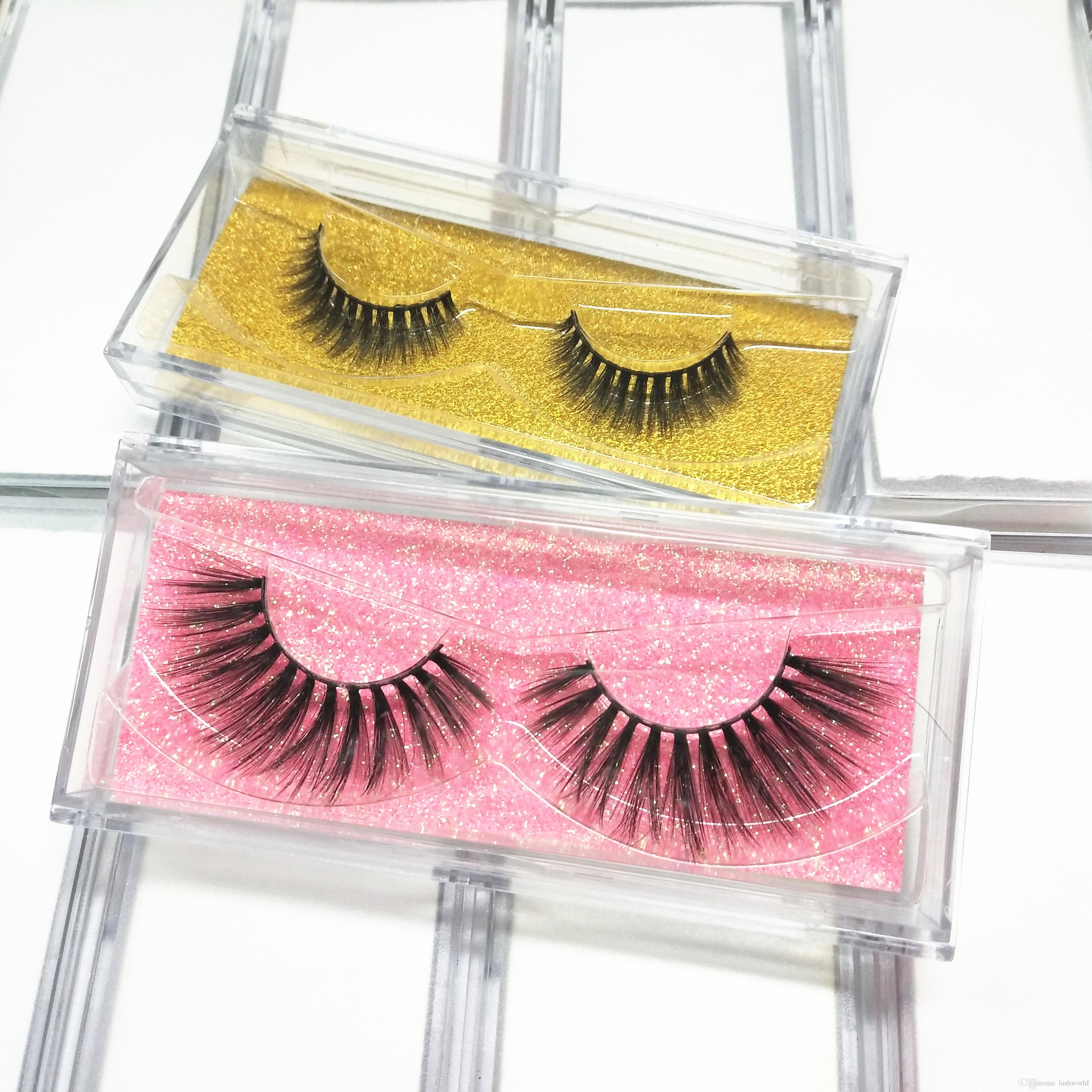 414f9367f23 Seashine 3D Faux Mink Eyelashes With Colorful Plastic Box Christmas Gift  Professional Makeup Lashes Handmade Color Mink Lashes Feather Eyelashes How  To ...