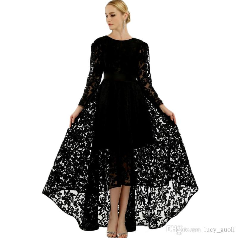 da9da701d690e New Women Winter Lace Dress Long Sleeve Sexy Black Evening Party Long  Dresses Hepburn 50s Elegant Vintage Autumn Dress Plus Size Belt Tunic