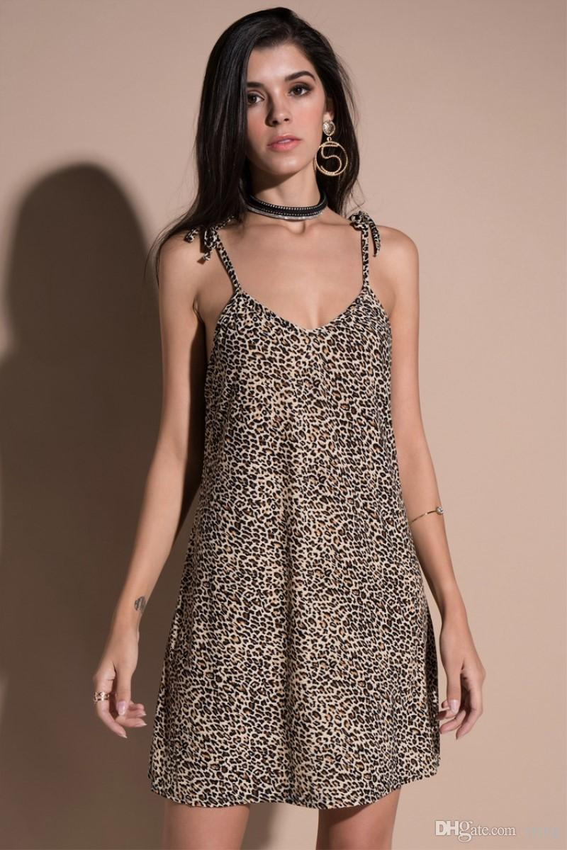 88700c9a4e85e Sling dress sexy leopard print hanging spring and summer new dress women s  Casual Dresses free shipping