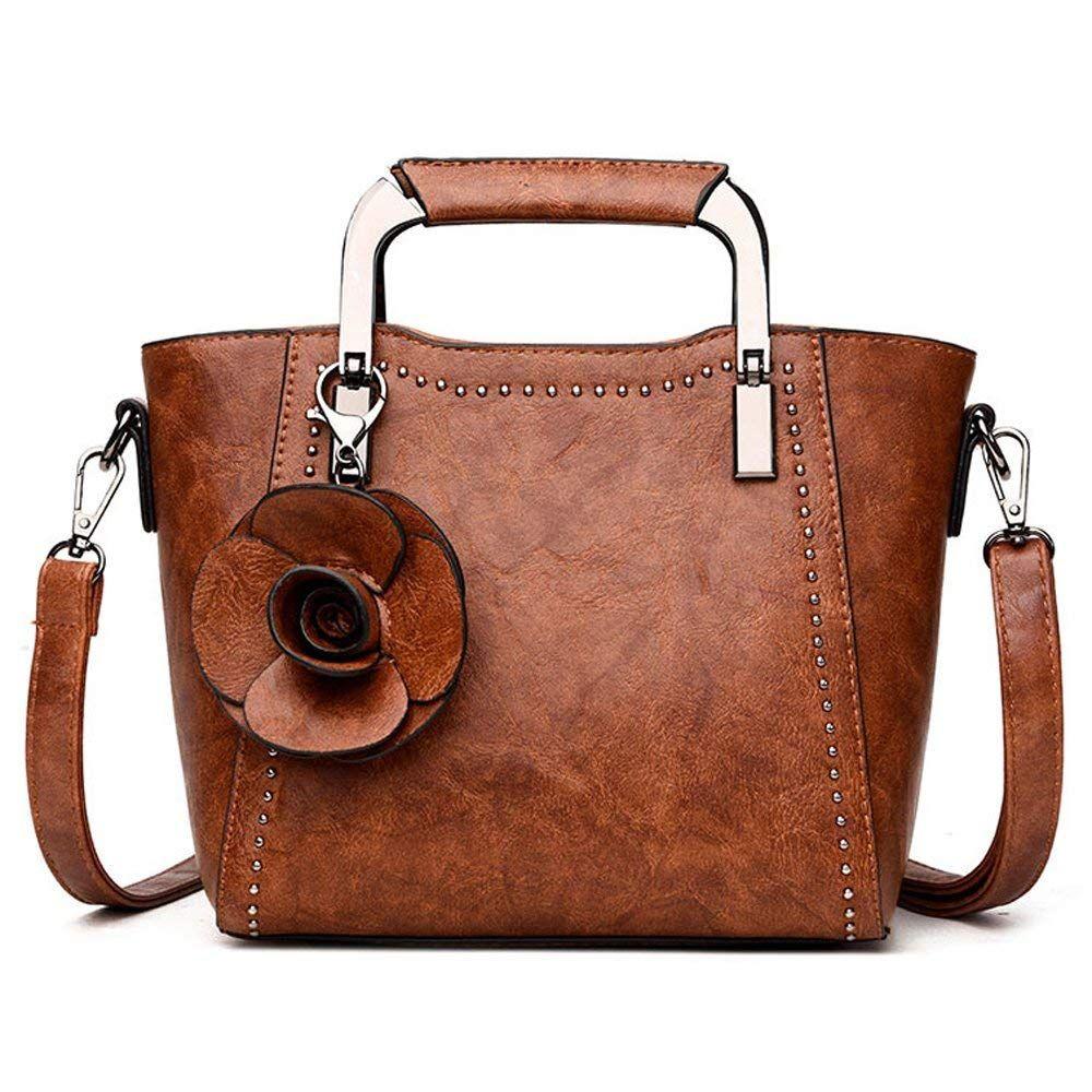 Pu Leather Top Handle Mini Handbag For Women Rose Bag Brown ... e10e77f8b0375
