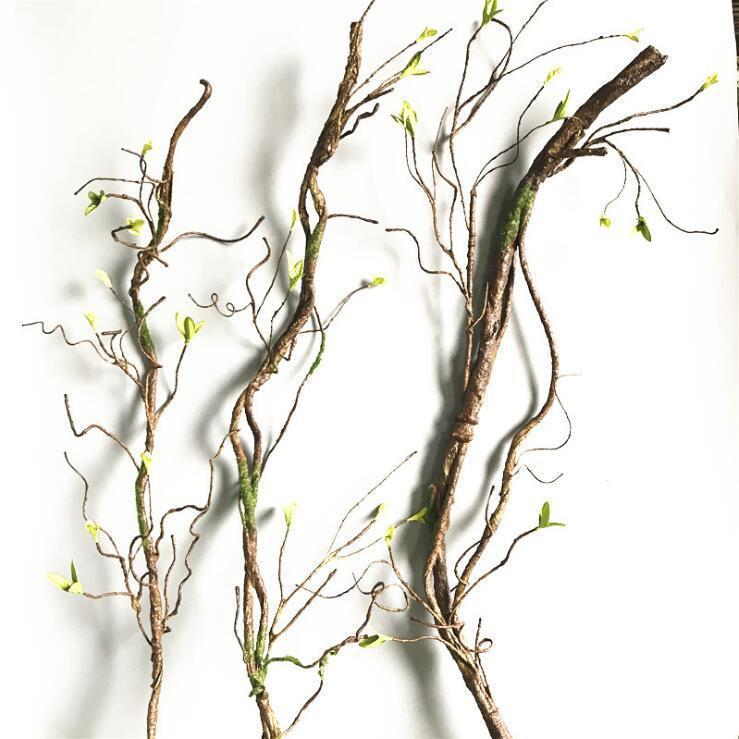90cm Real Touch Fake Tree Branches Rattan Kudo Artificial Flower Vine For Home Hotel Wedding Diy Decoration Wreath Scrapbooking