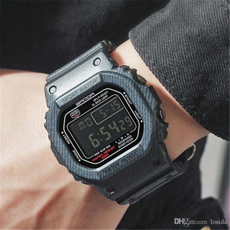4489eda7339 Compre Borracha Esporte Relógio Digital G Estilo LED Relógios De Pulso Dos  Homens À Prova D  Água Resistente Ao Choque Relógio Atacado Relógio Relogio  ...