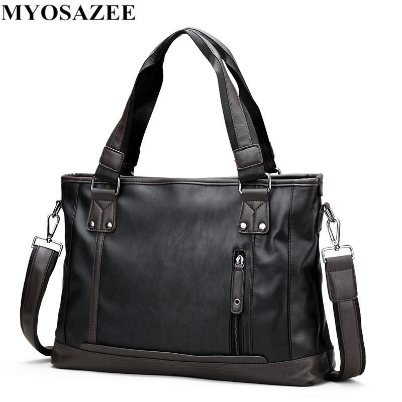 5f35ab397538 Brand Fashion Male Commercial Briefcase PU Leather Bag Business ...