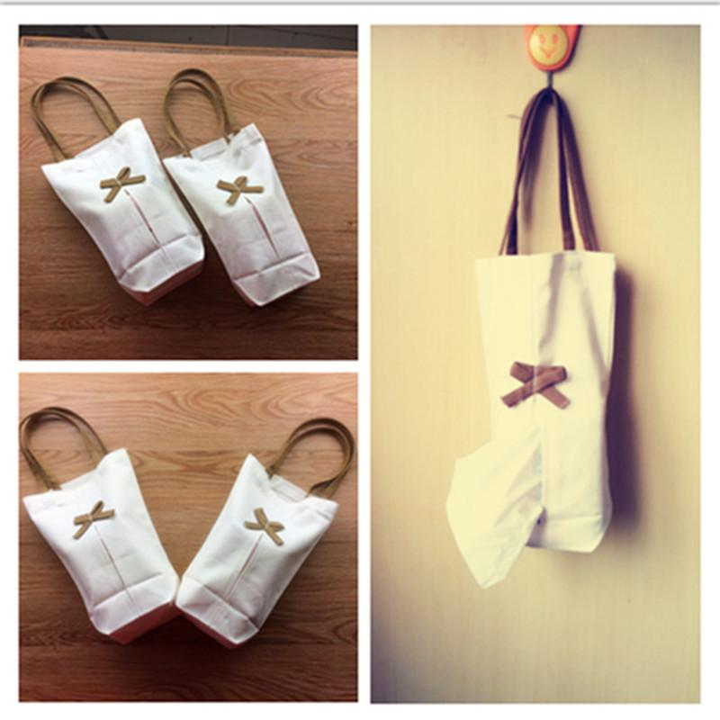 Simple cotton linen box Retro simple hanging fabric paper towel Manual Japanese paper towel hanging bag