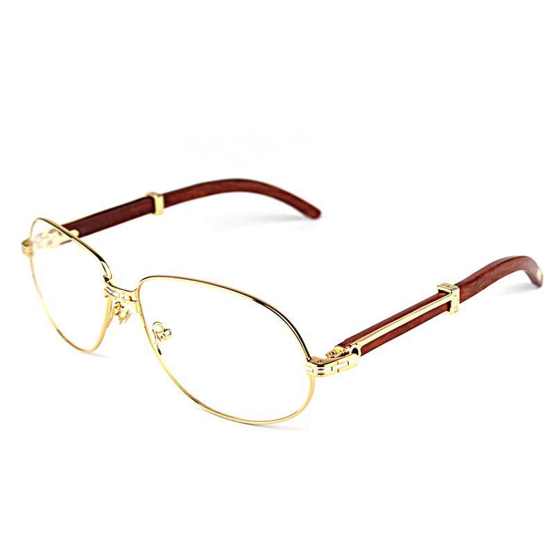 d71c53c5eb Vintage Wooden Sunglasses Men Fashion Wood Eyewear Accessories Clear Glasses  Metal Frame Women Shades Men for Club Party Beach Eyewear Frames Cheap  Eyewear ...