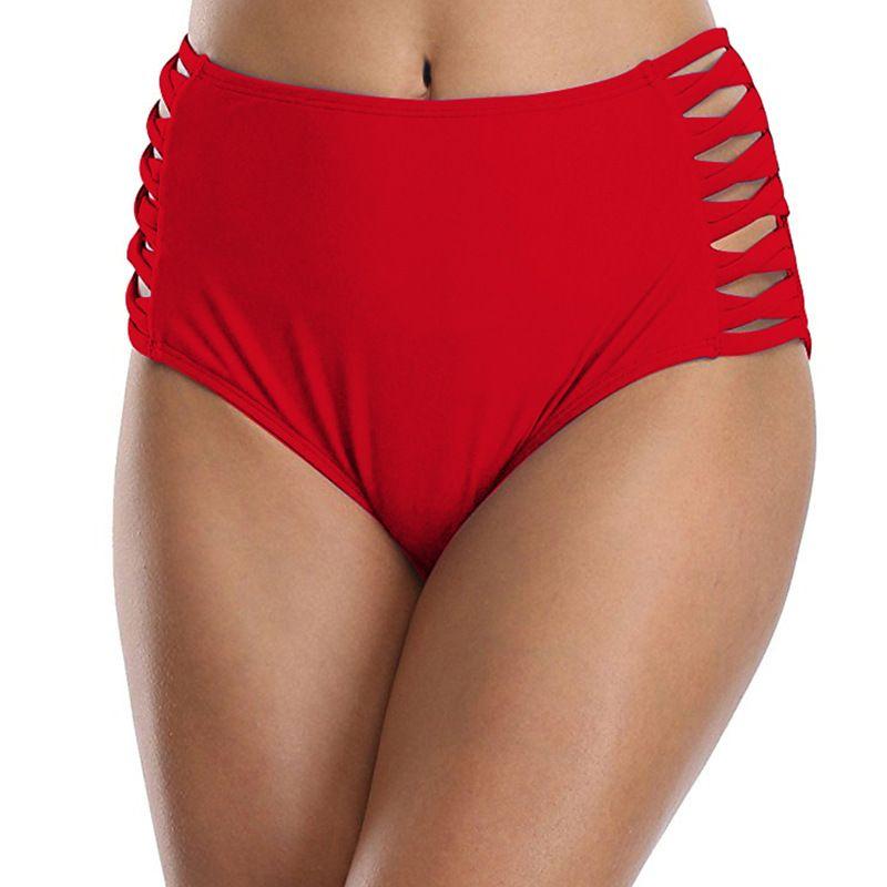 4f5bb1c704 2019 High Waist Bikini Bottoms Separate Womens Swimsuit Shorts Hollow Out Bathing  Suit Underwear Plus Size Women Swim Surfing From Fangfen, $34.54 | DHgate.