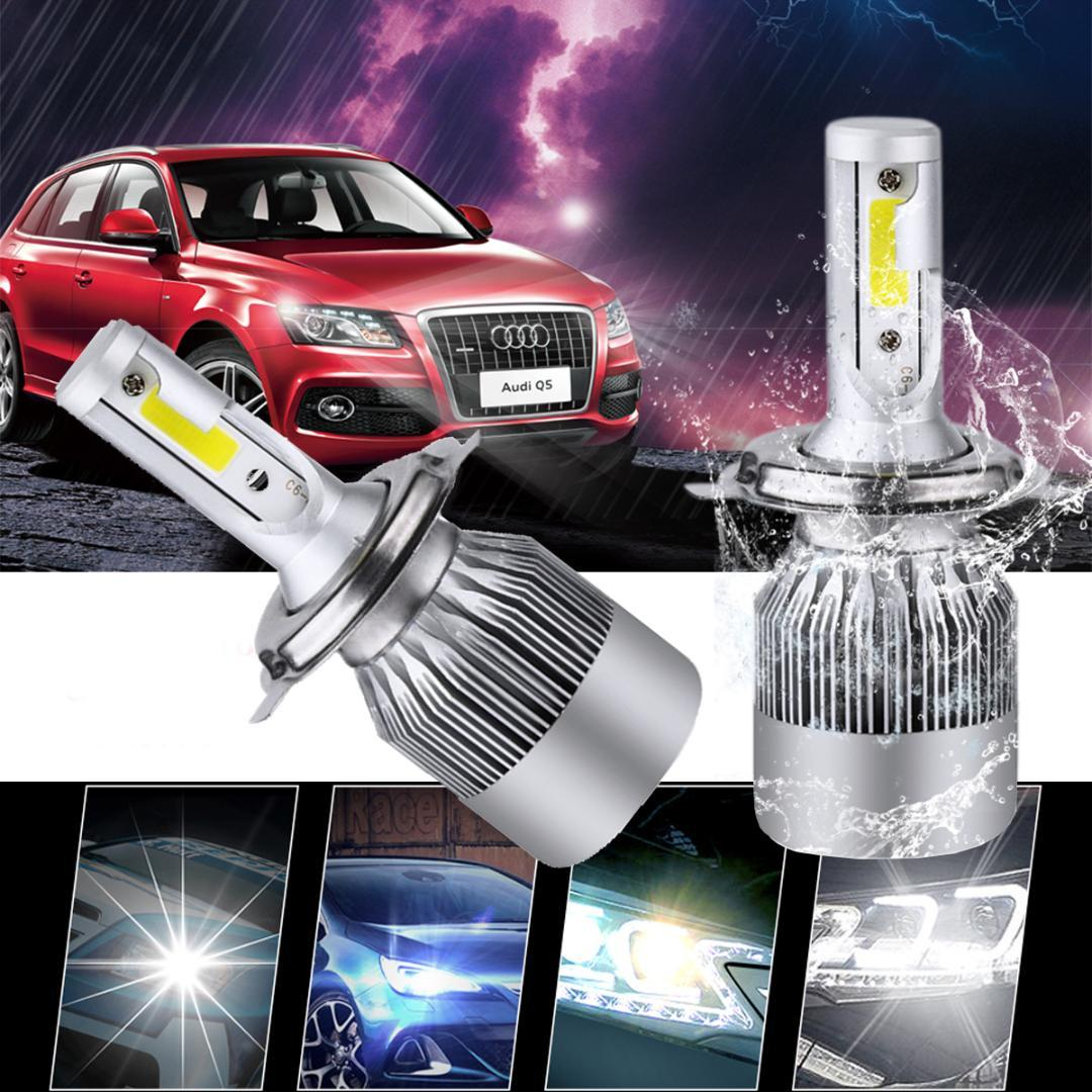 H4 H7 LED phare de voiture C6 H1 H13 Lampe frontale Lumière 9007 H13 6000K 72W 8000LM All In One Car