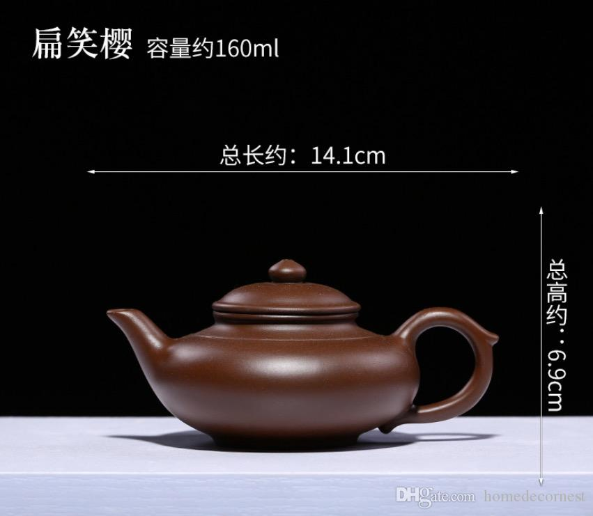 Promition!! 160ml Yixing Teapot Zisha Tea Pot Chinese Purple Clay Teapot Handmade Kung Fu Teaset Free shipping Bianxiaoying