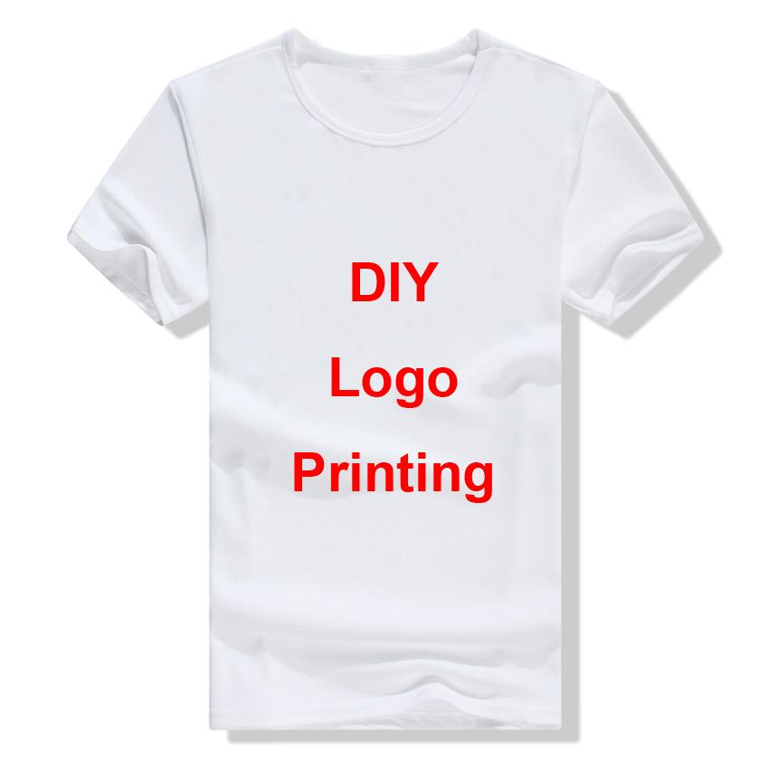 Team Wear Customized DIY Logo Printing Cotton Brand Photo Logo Printing Cotton White Summer T-shirt Tops Tees S-3XL Wholesale
