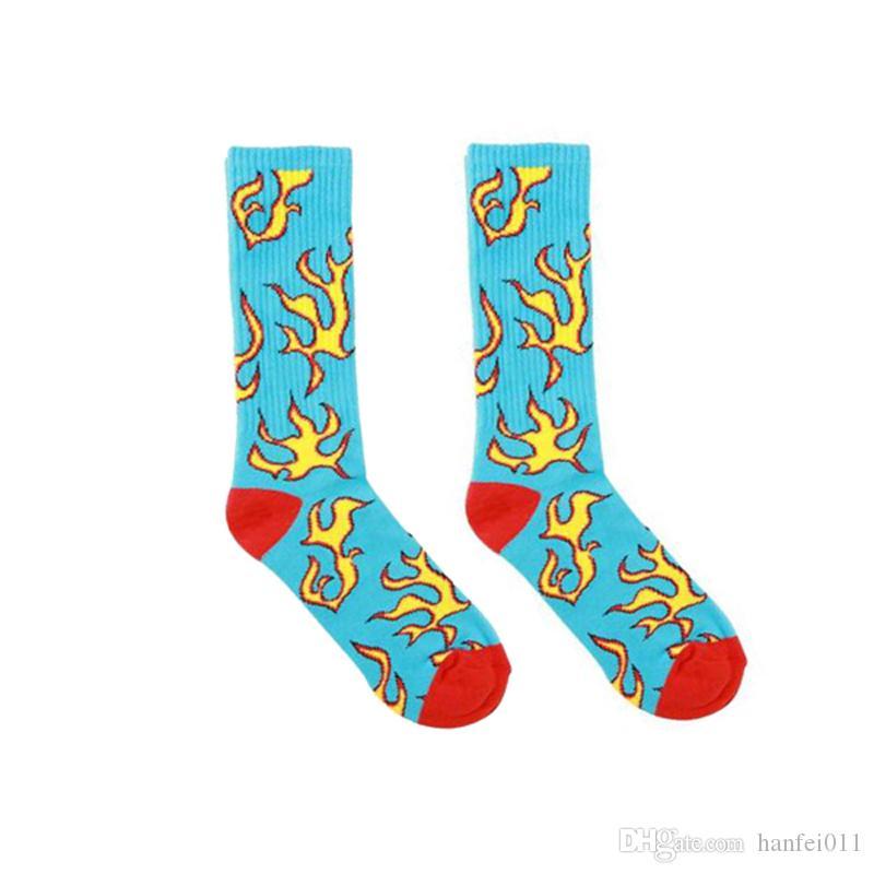 d218cc4f1161df 2019 GOLF WANG Blue Flame Beige Luxury Socks Skateboard Street Fashion  Sports Comfortable Beautiful Socking Breathable Football Socks HFLSWZ022  From ...