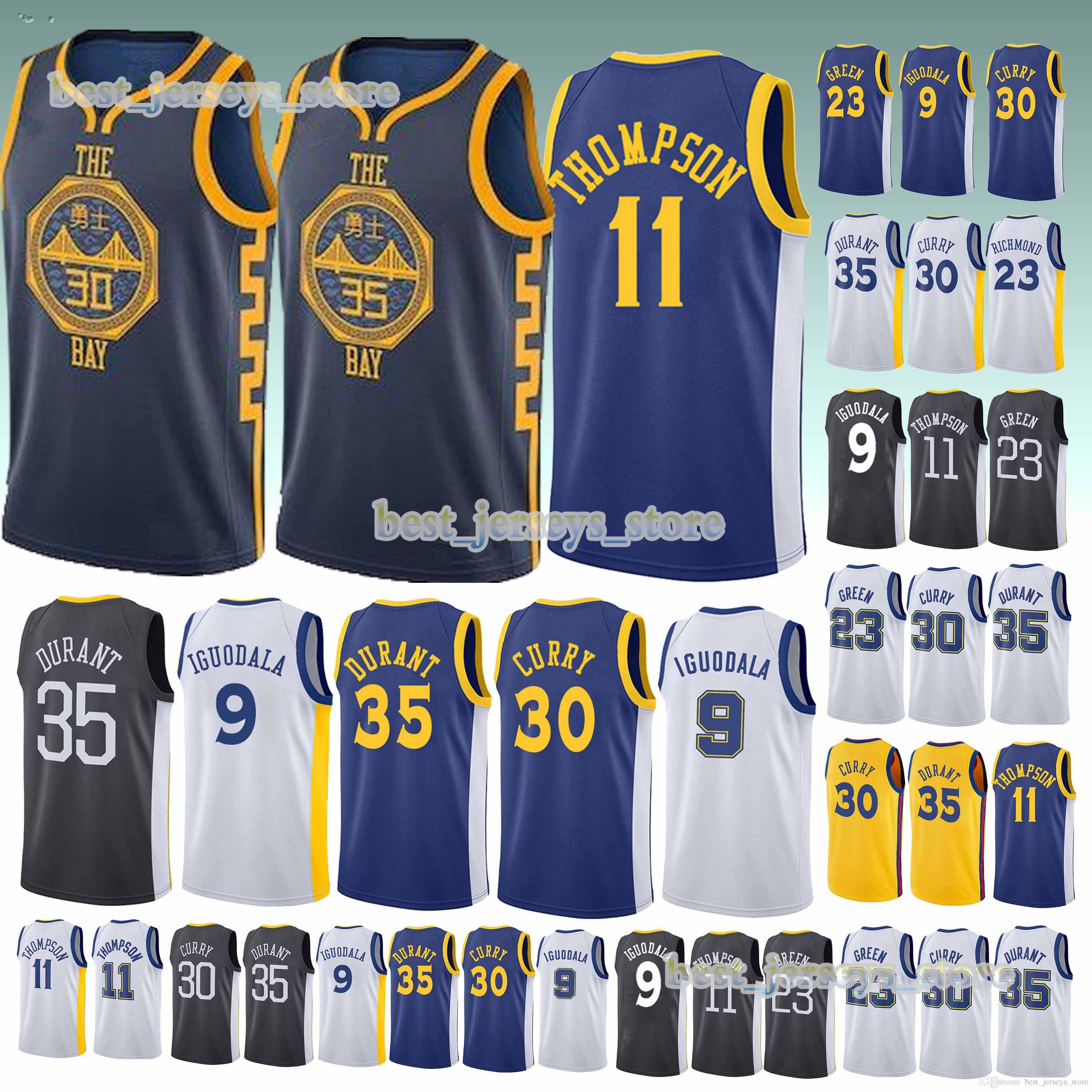 promo code a7832 eb458 11 Thompson 9 lguodala 30 Curry 35 Durant jersey 23 Green Basketball  Jerseys 2019 Design sweater