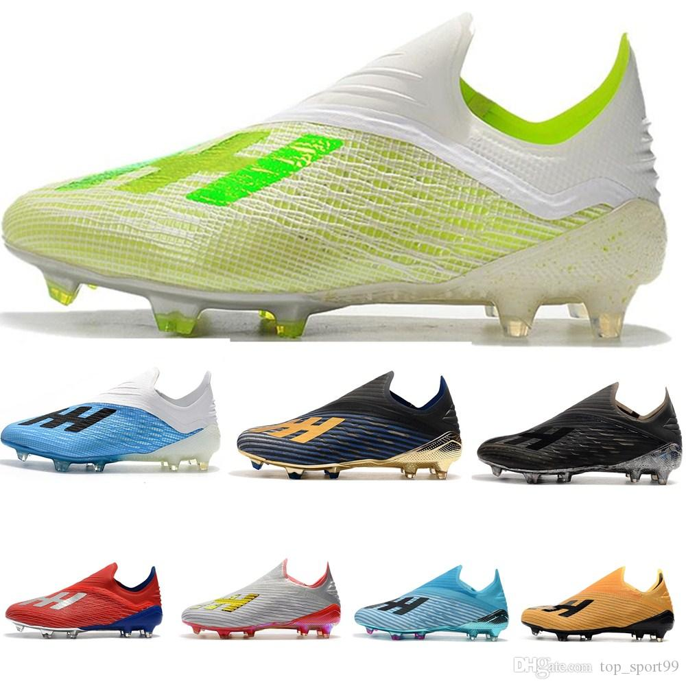 New X 19.1 FG Mens Soccer Shoes with shoelace Cleats Cheap chaussures crampons de football boots x19+ High Quality scarpe da calcio