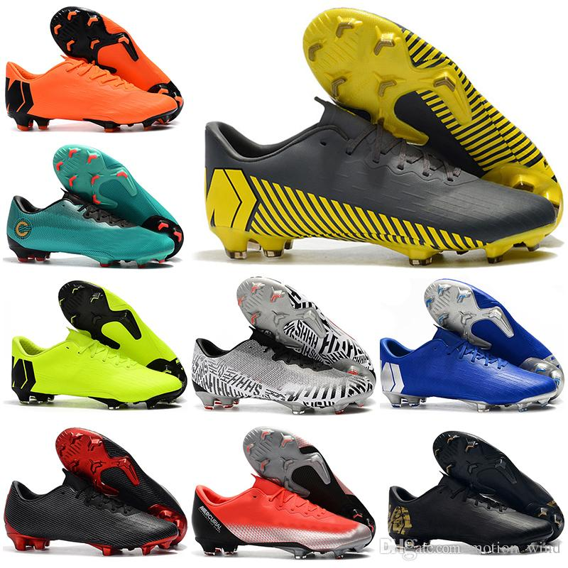 watch 71cdc 5ce1f 2019 New Mens Low Ankle Football Boots CR7 Mercurial Vapors XII Pro FG  Soccer Shoes ACC Superfly VI Neymar NJR SHHH Outdoor Soccer Cleats From  Motion wind, ...