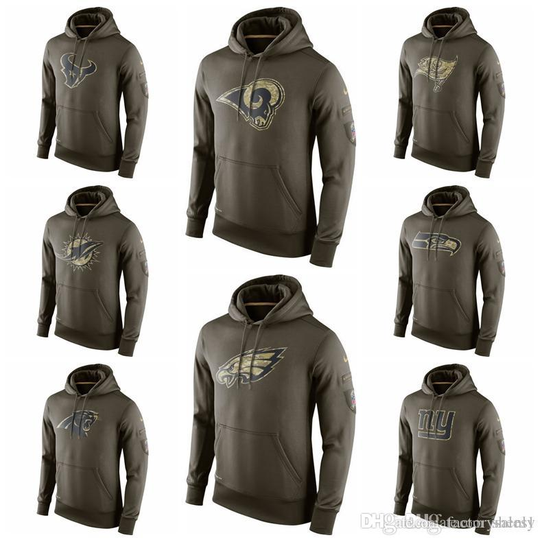 wholesale dealer 120c2 06d78 Mens Salute to Service Sideline Performance Hoodie Sweater Texans  Buccaneers Rams Panthers Dolphins Seahawks
