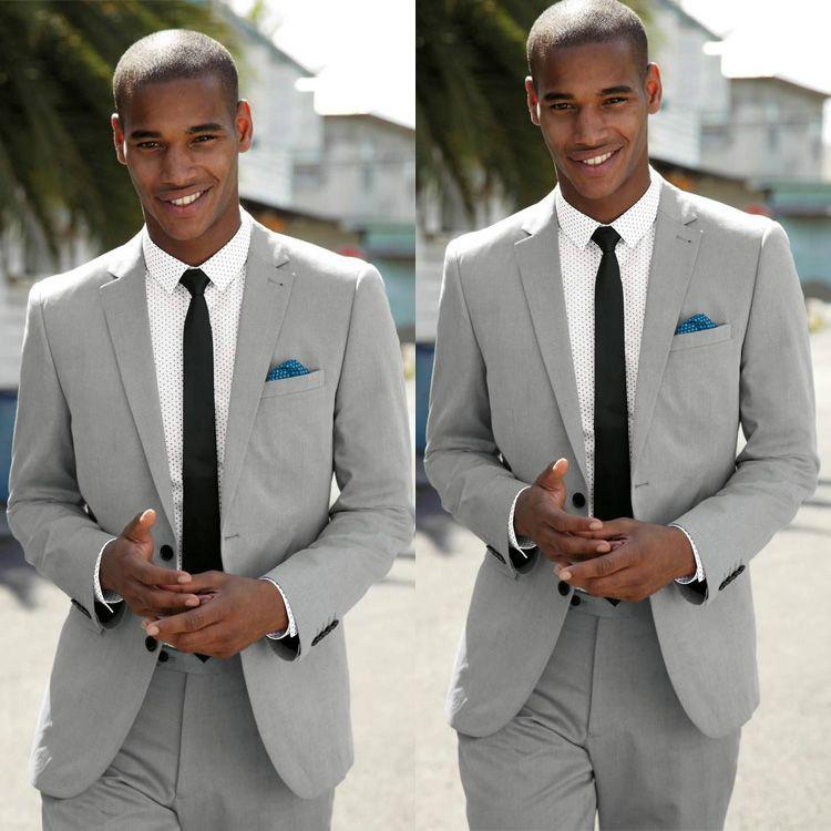 Mens Summer Wedding Attire.Summer Men Wedding Tuxedos Beach Linen Notched Lapel Groom Wear Pants Suits Leisure Best Men Slim Fit Blazer Jackets Jacket Pants