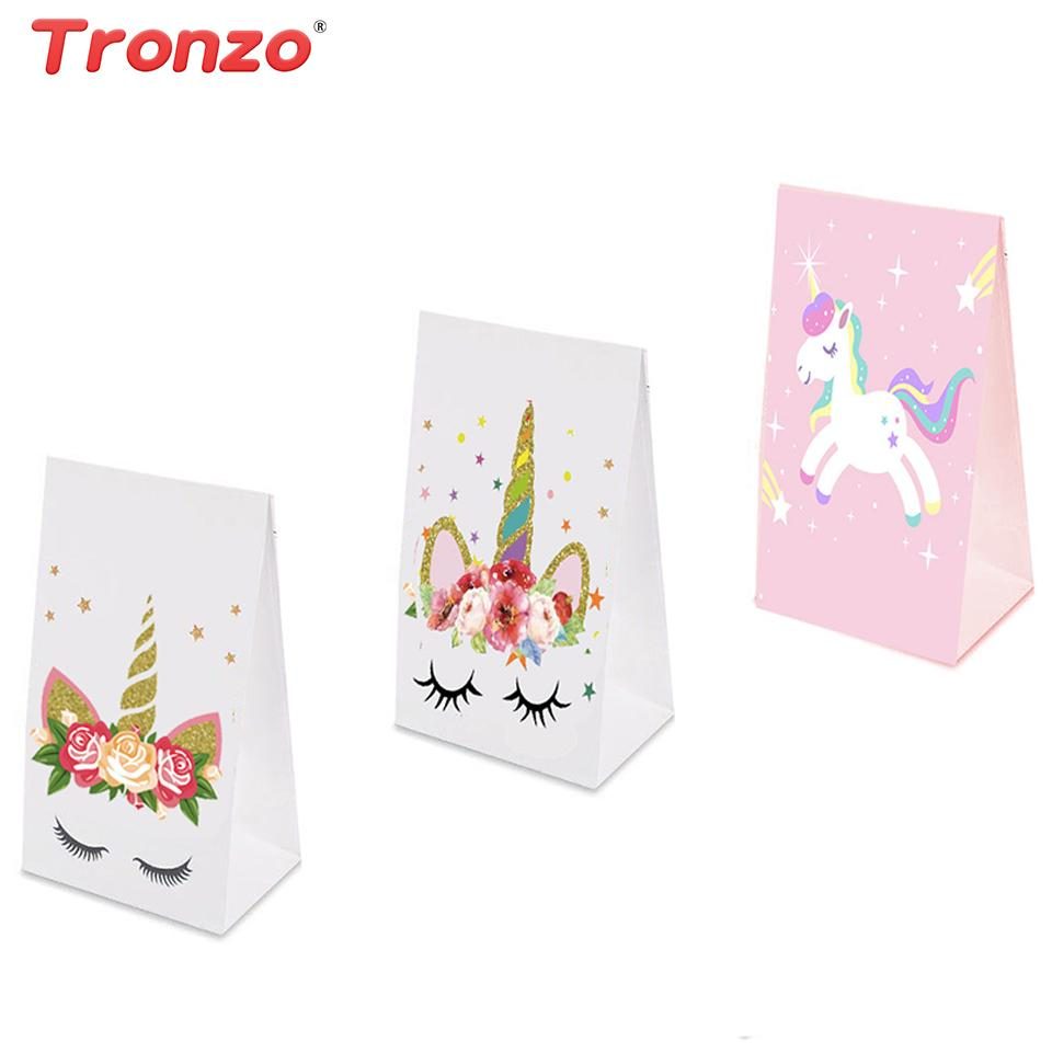 Tronzo Unicorn Paper Bag Party Birthday Decorations Kids Pink Gift Wedding Favors And Gifts C18112701 Valentine Wrapping