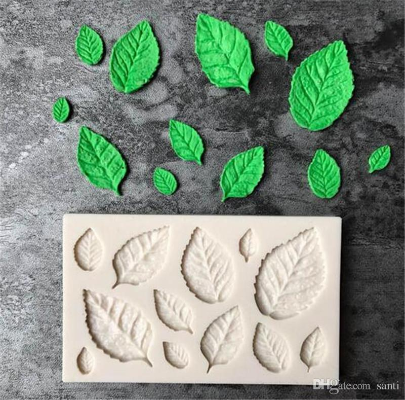 Wreath Leaf Silicone Mold Crystal Epoxy Mold for DIY Chocolate Cake Crafts