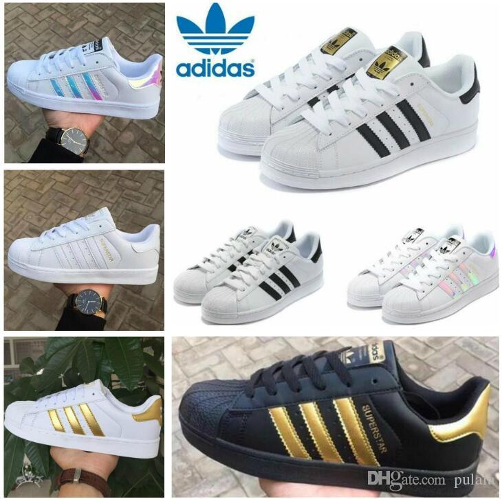 Discount sale Fashion mens Casual shoes Superstar Female Flat Shoes Women Zapatillas Deportivas Mujer Lovers Original Super Star Sneakers