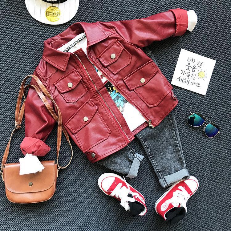 Autunno Primavera Abbigliamento Set Rosso Acquista Ragazzi Giacca EWYDH9I2