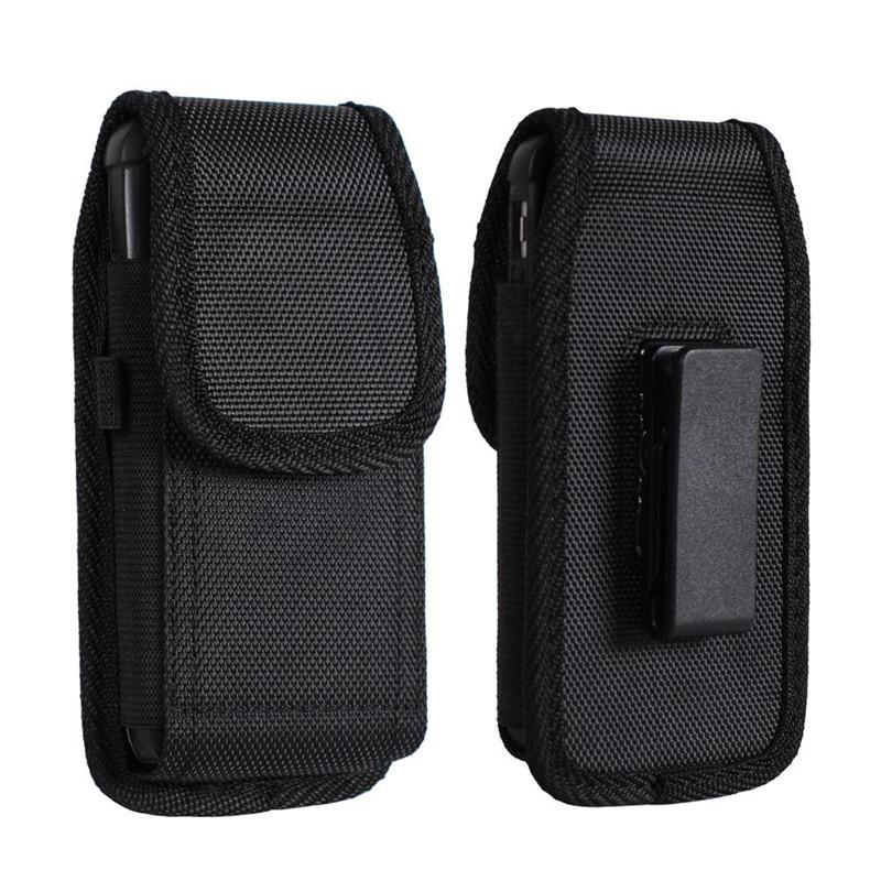 For iphone X 7 8 Plus Universal Sport Nylon Leather Holster Belt Clip phone Case Cover Pouch for Samsung Huawei S9 Plus